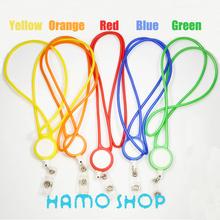 5pcs/lot Metal Pull Chain Lanyard  Reel ID Card Badge Holder Reel Recoil Retractable Belt Clip Lanyard Free Shipping(China (Mainland))