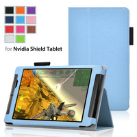 stand case for 2014 new Nvidia Shield Tablet 8.0 case cover pouch skin grey good material inside 30pcs/lot free ship11color