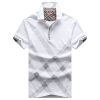 HOT!Free Shipping 2014 New Men's Casual Slim Fit Stylish Short-Sleeve Shirt Cotton T-shirt Size:M-XXL#622