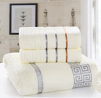 2014 winter new listings, high-quality cotton towels, bath towels (2 + 1) a combination of suits, embroidered beach towel