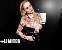 2014 Women 5XL 4XL XXXL Plus Size Woman Blouse Blusas Full Long Sleeve Floral Print Chiffon Shirt Autumn Blue Desigual Clothing