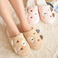 2014 New Winter Slippers Cute rabbit and bear decorated women & men unisex indoor slippers,SJ058