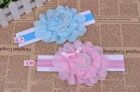 free shipping Girl's Head Accessories hairband Baby Headband flower princess headband elastic flower hairband