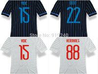 Customize! 14/15 season HERNANES jersey top quality soccer uniforms Size S-M-L-XL