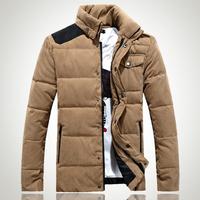 Down & Parkas 2014 New Casual grey Goose Down Jacket Men Parka Winter Coat Men Men Thick Splicing Winter Jackets Free shipping