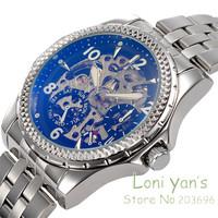 New 2014 IK Colouring Luxury Mechanical Sapphirel Watch Auto  Men's Watches Wristwatch Free Shipping  Christmas Gift