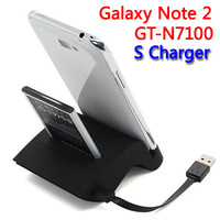 For Samsung Galaxy Note 2 N7100 GT-N7100 S Battery Dock Charger Holder Cradle Bateria Cargador Chargeur 30 pcs Free DHL