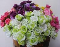 White Roses Artificial Flower Bouquet Stamens Artificial Plant