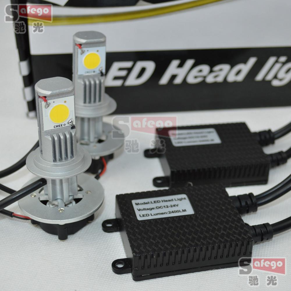 Источник света для авто Safego 1set 50 cree H11 h7 H8 H9 H10 880 881 9005 9006 HB4 H3 H1 3600LM geetans hb4 hb5 h4 h7 h13 h11 h1 9005 9006 cob led headlight 72w car led headlights bulb head lamp fog light pure white 6000k h