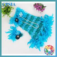 2014 Latest Design Baby Dress Cutting Turquoise Plus Sizes Lace Petti Birthdays Dress for Kids12set/lot