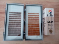 wholesale price for individual eyebrow extensions 5mm 6mm 7mm black, dark brown and medium brown