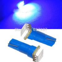 100pcs Blue Car Interior Led Light LED T5 1 SMD 5050 led Dashboard Wedge 1 LED Car Light Bulb Lamp Free shipping