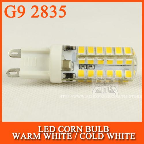 10pcs/lot LED Bulb SMD 2835 LED G9 LED lamp 9W 48LED Corn Light 220V 360 Degree Replace Halogen Lamp(China (Mainland))