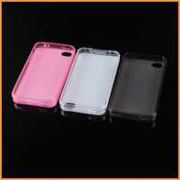 Free Shipping New Style Ultra Thin Crystal Clear TPU Silicone Soft Cover for Apple iPhone 4 4S Transparent Case for iPhone4S