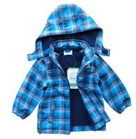 Topolino Brand Baby Boy Coat,winter,baby clothing,kids jackets,plaid,fleece,windproof waterproof trench,children outerwear