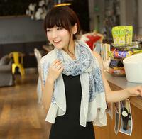 Chinese  Scarves women scarf velvet chiffon Bohemia fashion style silk scarf free shipping