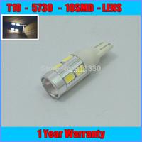 2pcs/lot Free Shipping Car Lights LED T10 5730 W5W LED Car Bulb 194 LED Cree High Power Car Bulb T10 LED