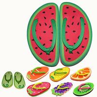 2014 New Women summer slippers Cute fruit printed girls' favarite slipplers beach slippers,SJ059