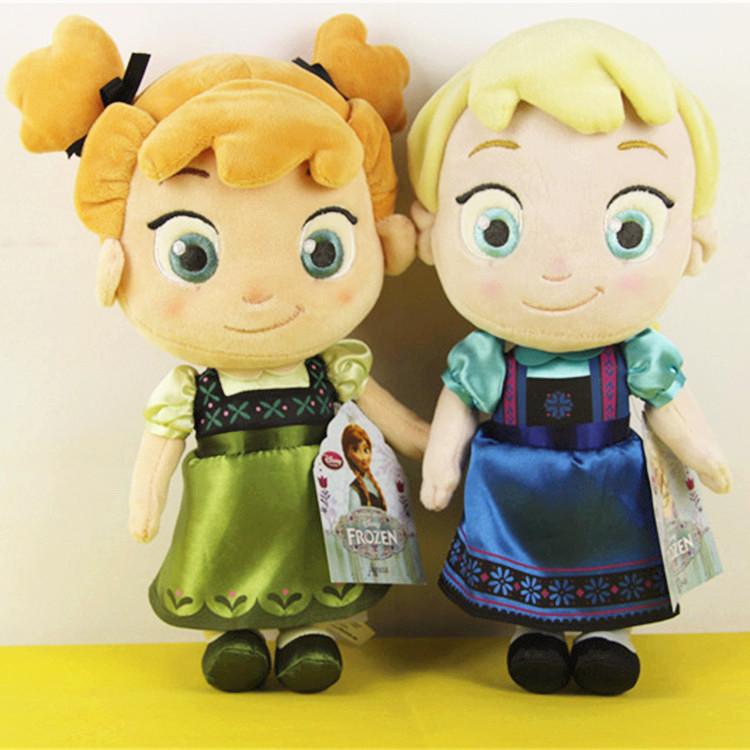 Childhood Version 30CM Frozen Plush Toys 2014 Princess Elsa plush Anna Plush Doll Brinquedos Kids Dolls for Girls Children(China (Mainland))