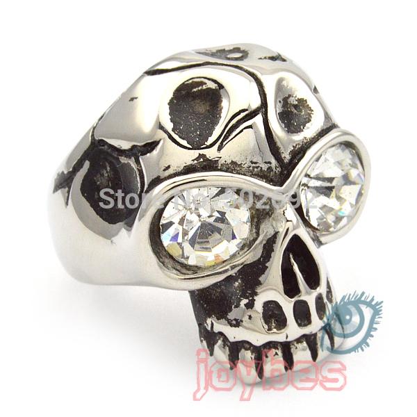Titanium punk ring diamond non-mainstream fashion skull(China (Mainland))