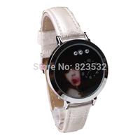 Fashion student watch,sport casual girls luxury dress genuine LEATHER quartz ms pearl diamond  Wristwatch Christmas gift