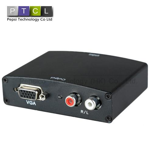 Full HD 1080P HDMI To VGA Audio Video Adapter 1.3 Version HDMI Standard Drop Shipping(China (Mainland))