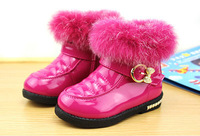 1-3 year new genuine winter children shoes snow boots,Artificial PU fabric warm waterproof winter zip snow boots girls boots
