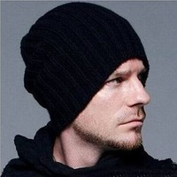 Brand New Men's caps woolen Knitting warm winter Men hats Beckham same style Men Knit Hat High quality Winter wool Male Beanies.