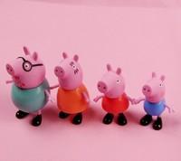 peppa pig figure Romantic Pink Pig plush doll ornaments plastic toys