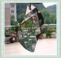100pcs/lot , 50mm, transparent color S shape crystal chandelier pendants/crystal curtain pendants,crystal chandelier parts