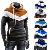 Hooded Pullover Mens Fleece Hoodies Top Design For Men Coat Slim Male Top-grade Casual Hoodies B070 Free shipping Wholesale 2014