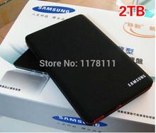 new high-speed mobile hard disk 2TB HDD USB2.0 external hard drive free U DISK worldwide shipping(China (Mainland))