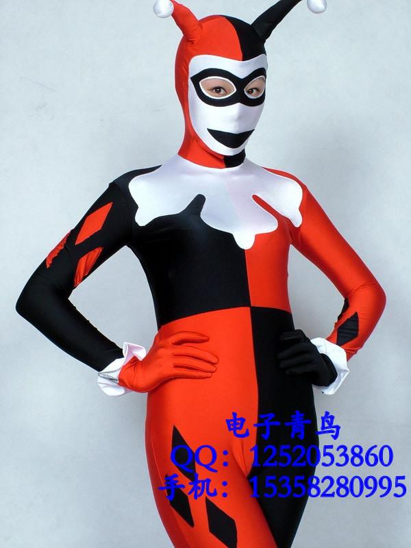 Halloween costume cosplay harley quinn costumes costume fantasias para festas fantasias femininas fantasy harlequin disfraces(China (Mainland))