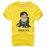 2014 new Sherlock Holmes short-sleeved T shirt printing sherlocked men shirt one hundred percent cotton t-shirts men
