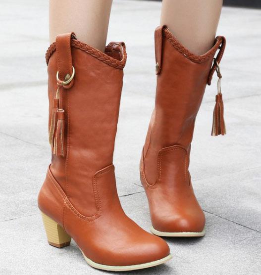 Big Size 34-43 Brand Fashion Women Ankle Boots Knee high Boots botas femininas Sexy Tassel Gladiator Woman Autumn Winter Boots(China (Mainland))
