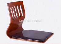 (6pcs/lot) Japanese restaurant chairs sitting  fabric cushion  cherry color floor tatami legless chair