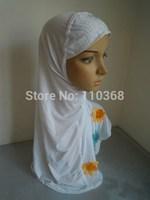 New Ice Silk Hot Drill Style Flowers Muslim Hijabs Fashion Islamic Hijab Islamic Scarf Hijabs Free Shipping  Assorted Colors
