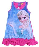Momo - Frozen Sleepwear Pjs for girls, Princess Elsa  Girl Nightgown dresses, 5pcs/lot free shipping