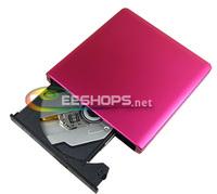 for Sony BD-5750H Notebooks Netbook Ultrabook USB 3.0 External Blu-ray Writer Super Multi 6X 3D Blue-ray 4X BDXL DVD Burner Pink