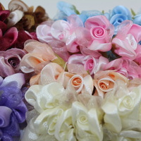 High quality 3cm head Multicolor artificial Wedding organza flower/Bridal flower Bouquet Scrapbooking(144pcs/lot)