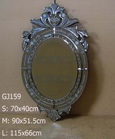 2014 new design hot sale oval venetian mirror