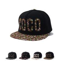 Free Shipping New  Fashion 5 Panel Hat COCO Snapback Hats For Men Women Floral Hip Hop Cap Tennis Gorras Baseball Cap