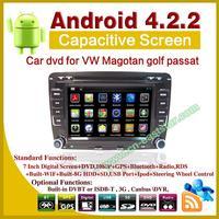 Andriod 4.2 car DVD for Volkswagen VW Magotan golf 5 6 passat with bluetooth ipod gps radio ATV usb sd 3G Wifi ES-2200