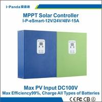 Esmart MPPT solar controller  48V 15A  eSmart 15A 48V  12V 24V 48V auto work Gel Vented NiCd etc esmart-15A