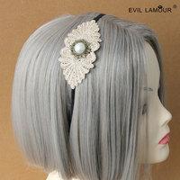 Min.order $15 Fresh Ivory Bohemia Hair Jewelry DIY Bride Hairband Fashion Deluxe Lolita Hair Accessories Best Lover Gift FG-36