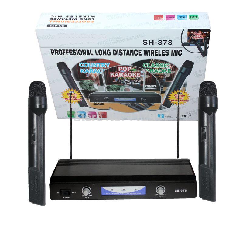 NEW Professional Wireless Microphone Mic Cordless DJ Karaoke System(China (Mainland))