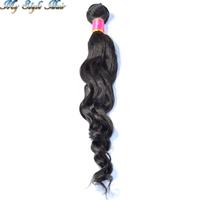 4A Quality 100% Brazilian Virgin Remy Hair Loose Curly,Mix 2pcs/lot Human Hair Extension Loose Wave Hair Bundles Natural Black