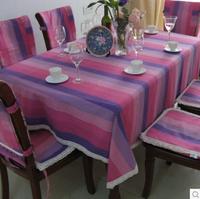 High Quality 145*210cm rose rainbow stripe cotton table cloth, table chair cover cloth, chair cover HD0101
