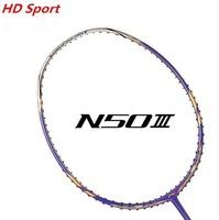 Original li-ning badminton racket 28 30 lbs string 675mm carbon racket  purple or gold 1 piece N50-3 badminton bag free shipping