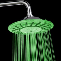 Temperature Sensor Color Changing Top Spray Round Shower head -8030A3 with retail box support dropshipping